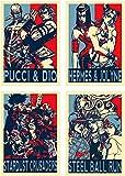 YEAHTOPE Wall Art Poster JoJo Propaganda Pucci & Dio Brando