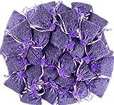 LEIKAIHUA Bolsas rellenas de lavanda 100% natural (7 x 9 cm), repelente de insectos y polillas para ropa, cajones, armarios, zapatos, viajes, sueño, coches,