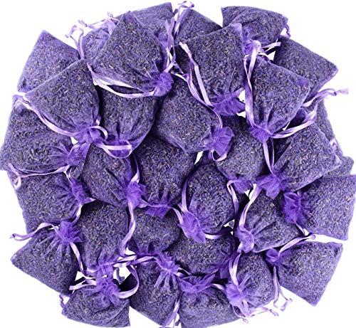 LEIKAIHUA 100% natürlich getrocknete Lavendelknospen. Garderobe Deo, handgemachte Kerzen. 30 Beutel à 7x9 cm, ca. 250 Gramm