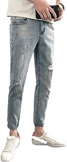 Spring Jeans Streetwear, Stretch Slim Fashion Ripped Jeans, Wandelen Dagelijkse Werkbroek Werkbroek, Met Zak