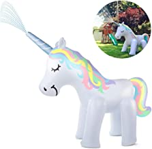 Kimi House Giant Inflatable Unicorn Sprinkler with Over 4.8 Feet Tall, 6.6Feet Long, Water Toys, Yard Summer Sprinkler Toys, Outdoor Summer Toys for Kids and Adults, Perfect for Pool Party & Unicorn