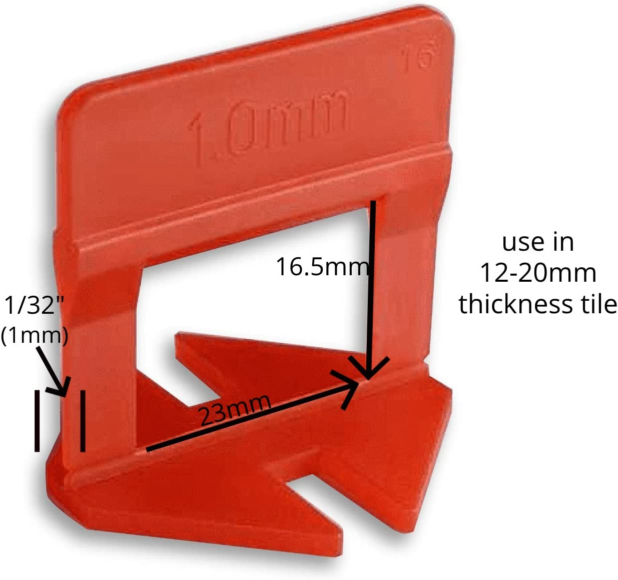 """anti-lip tile spacers for easy Includes 1 sponge seamless tile installation Professional tile leveling clips 3mm EMAISTORE 2000 Pcs Premium Tile Leveling System 1//8/"""""""