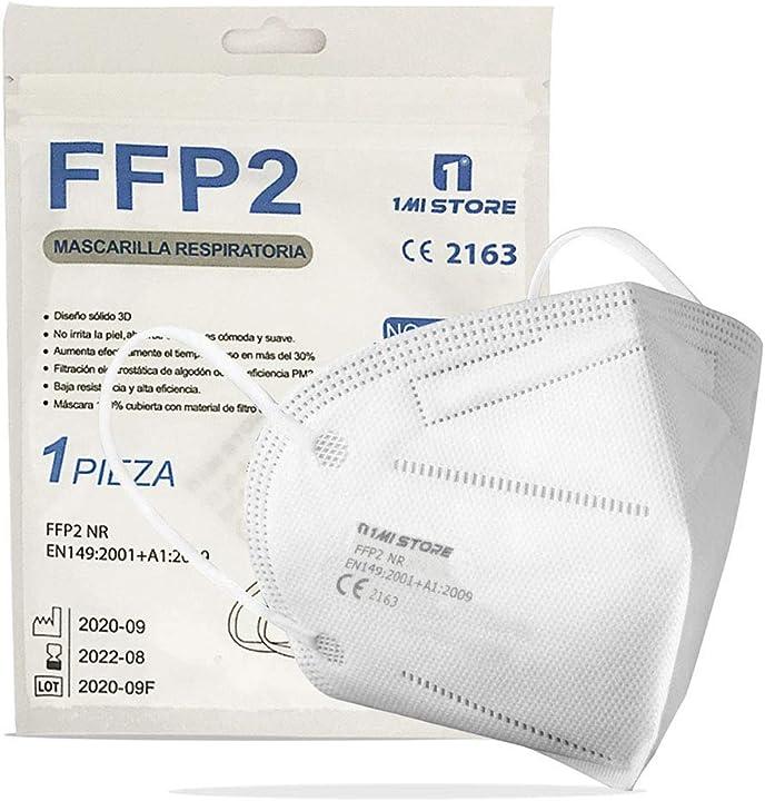 mascherine certificate ffp2 di protezione respiratoria marcate ce 2163, antipolvere a 5 strati,filtraggio 94% fq66