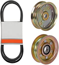 (1) Mower Deck Belt & Idler Pulley Set for John Deere L100, L108, L110, L111 & L118 with 42