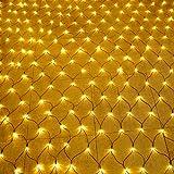 Aufun LED Lichternetz 6x4m 672LEDs Lichterkette Lichterkettennetz 8Modi Lichtervorhang mit Stecker für Halloween Weihnachten Hochzeit Party Innen und Außen Dekoration, Anschließbar, Warmweiß