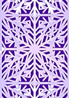 igsticker ポスター ウォールステッカー シール式ステッカー 飾り 841×1189㎜ A0 写真 フォト 壁 インテリア おしゃれ 剥がせる wall sticker poster 012782 雪 結晶 紫