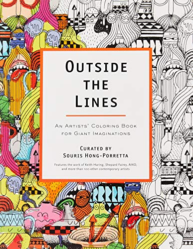 Price comparison product image Outside the Lines: An Artists' Coloring Book for Giant Imaginations