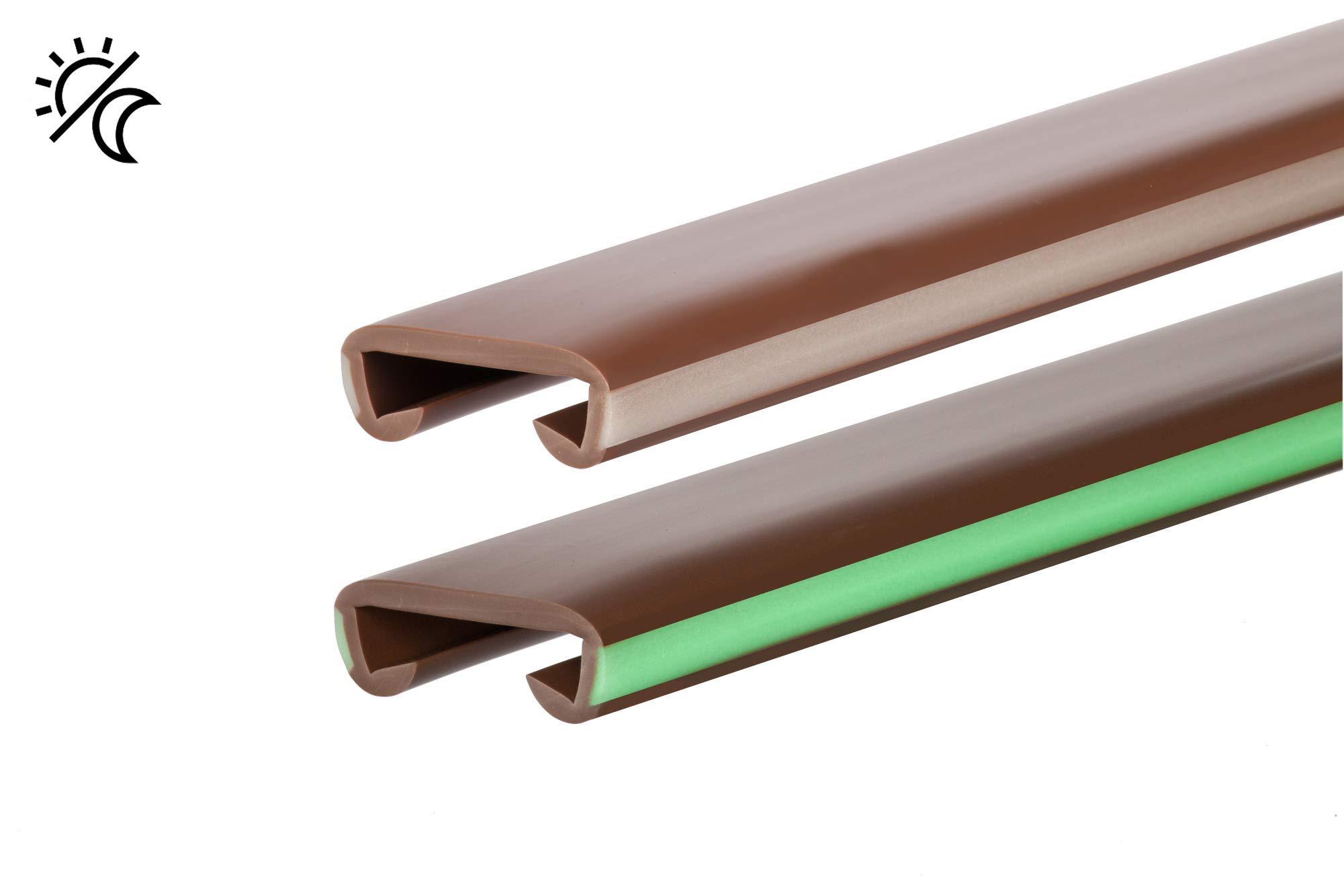 1 m pasamanos PVC Plástico Escalera pasamanos 40 x 8 mm fluorescente: Amazon.es: Bricolaje y herramientas
