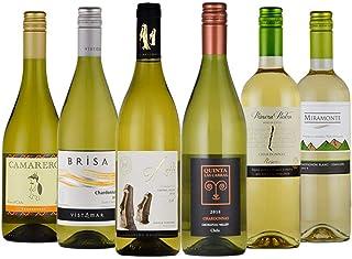 チリ 産 白 ワイン 6本 セット 飲み比べ シャルドネ セントラル・ヴァレー 750ml×6本 コラム入り