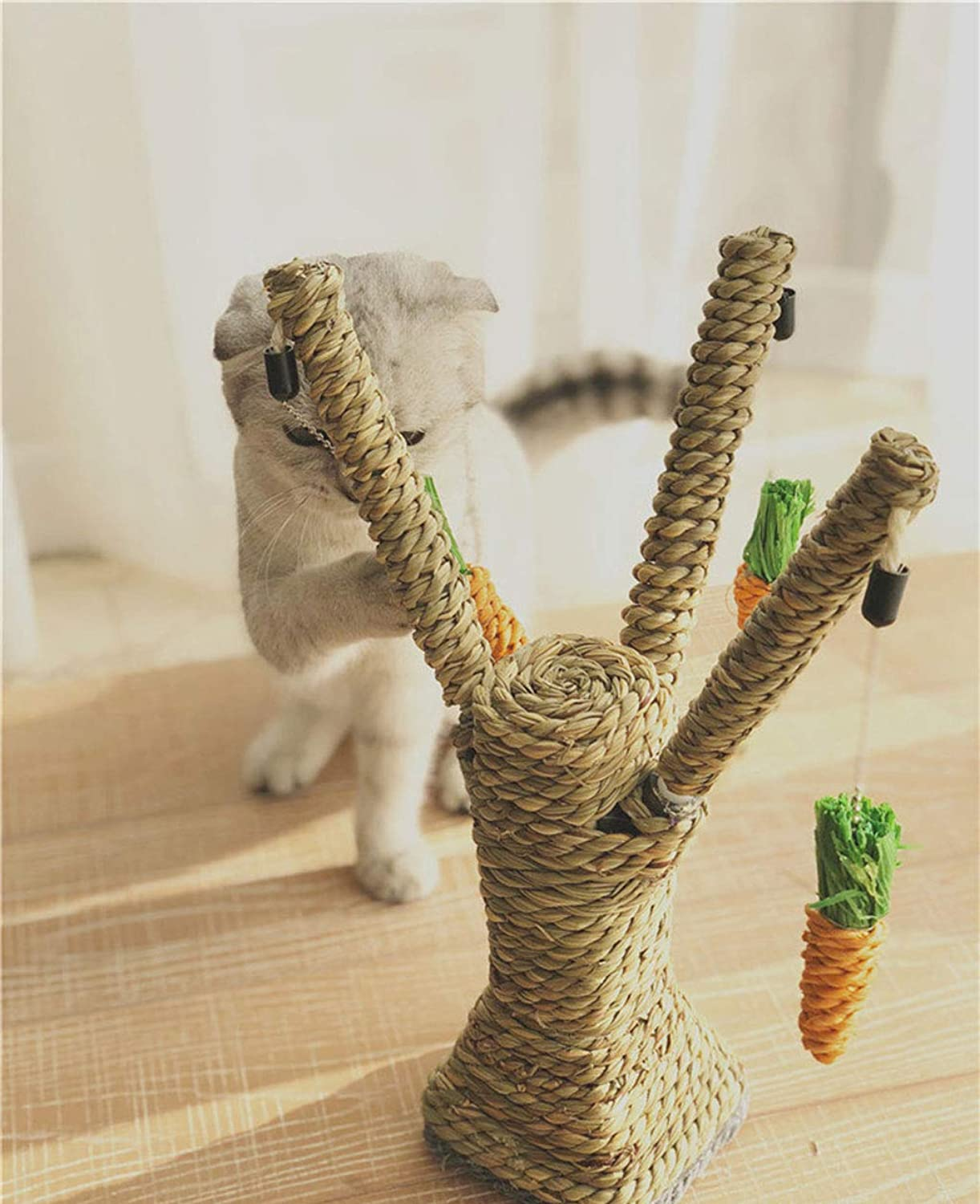 Cat Climbing Frame Twine cat greenical Grabbing Claws Jumping Platform cat Toy