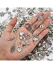 300 قطعة على نحو سلس التبت الفضة معدن سحر المعلقات ل diy الحرفية مجوهرات صنع سوار قلادة أقراط الملحقات