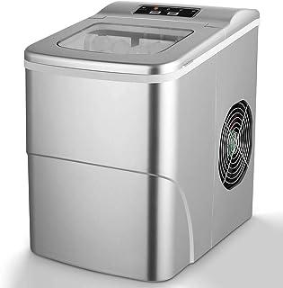 Machine à Glaçons Silencieuse, Électrique Compact Portable, Temps de Production 6-13 Minutes, Glaçons Boules en 2 Tailles,...