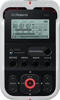 Roland R-07 High-Resolution Handheld Audio Recorder, White