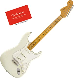Fender Jimi Hendrix Voodoo Child White Journeyman Stratocaster Bundle w/Fender P