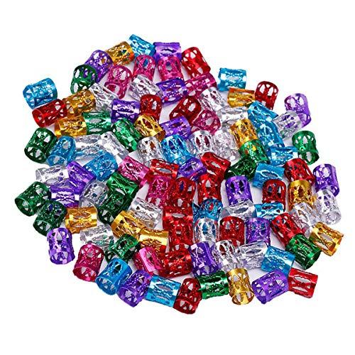 Piezas Dreadlocks Metal Hair, anillos trenzados para accesorios de cabello, 100 unidades, colores surtidos