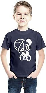 American-Elm Regular Fit White Cotton Printed T-Shirt for Boys, Half Sleeves Tshirts for Kids
