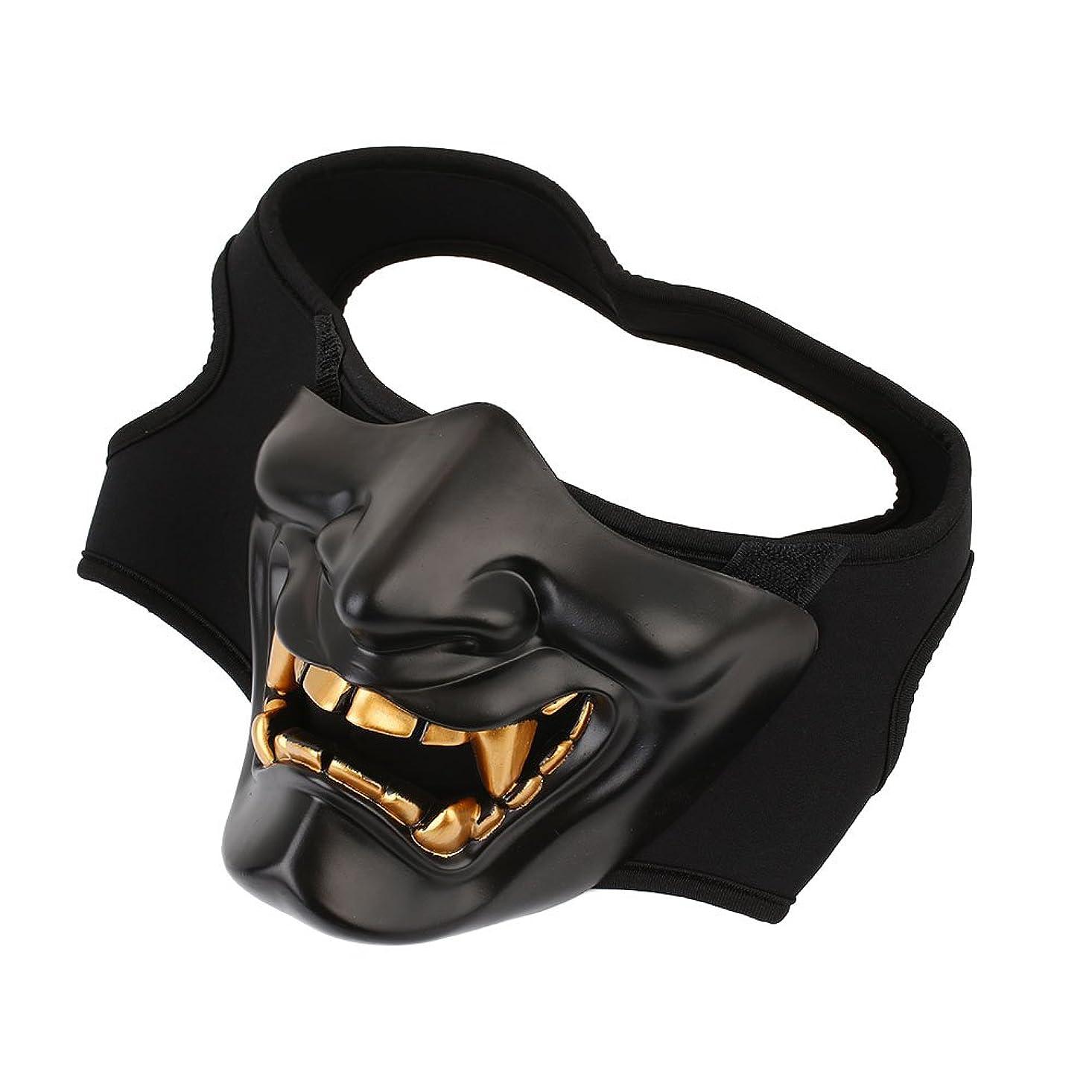 収束侵略懐Auntwhale ハロウィーンマスク大人恐怖コスチューム、悪魔ファンシーマスカレードパーティーハロウィンマスク、フェスティバル通気性ギフトヘッドマスク - ブラック