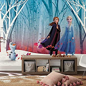 RoomMates RMK11415M Frozen Woodland Tree Peel and Stick Wallpaper Mural - 10.5 ft x 6 ft.