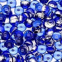 アクリル 半円 半球 マルポコ ラインストーン デコ電 ネイル デコパーツ 4mm ブルー