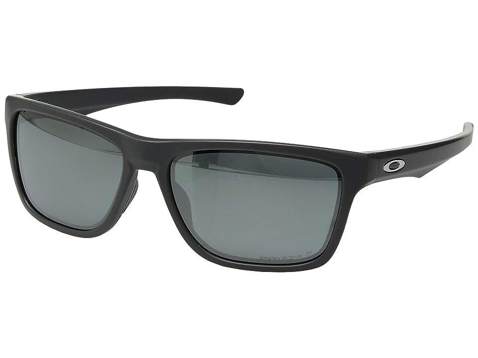 Oakley Holston (Matte Dark Grey w/ Prizm Black Polarized) Sport Sunglasses