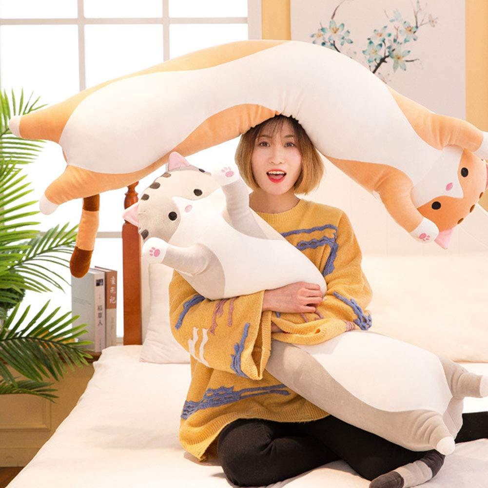 LAFANDE Cat Plush Soft Toys Cat Hugging Pillow for Kids Girlfriend Stuffed Animals Plush Soft Toy Cute Stuffed Kitten Pillow Doll Toy