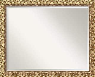 Amanti Art Framed Mirrors for Wall   Florentine Gold Mirror for Wall   Solid Wood Wall Mirrors   Medium Wall Mirror 31.50 x 25.50