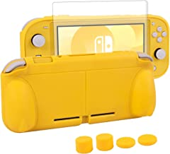 Protective Case for Nintendo Switch Lite, CHIN FAI Hard TPU Grip Case Self Stand Back Cover Comfort Ergonomic Design with ...