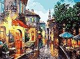 GenericBrands Pintar por Numeros Calle Luminosa DIY Digital Cuadro al óleo...