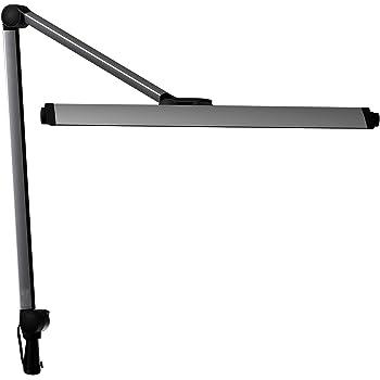 山田照明 Z-LIGHT LEDデスクライト シルバー 直下照度3242Lx 7段階調光機能付き Z-208LEDSL