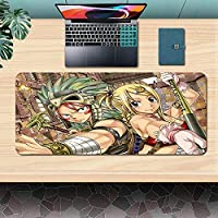 FAIRY TAILマウスパッドゲーミングアニメマウスパッドデスクトップコンピュータデスクマット、コンピュータキーボード、PC、ラップトップに適しています900x400x3mm-A_700X300X3MM