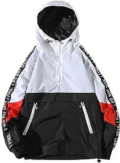 Men's Hooded Zip-up Long Sleeve Windproof Lightweight Windbreaker Jackets Hoodie Outdoor Coat