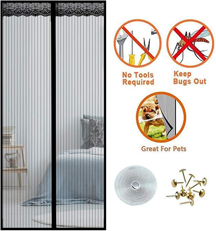 Heavy Duty Magnetic Fly Screen Door, 100x210cm Magnet Curtain Full