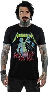 Absolute Cult Metallica Men's Justice Neon T-Shirt