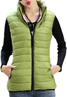 Women Quilted Packable Lightweight Stand Neck Jacket Down Vest