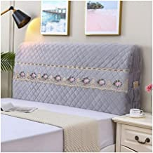 Headboard Cover Stretch Bed Headboard Slipcover Protector for Bedroom Decor Washable Furniture Slipcover (Color : Grey, Si...