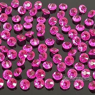 2,000 pcs 4.5mm Diamond Table Confetti Acrylic Wedding Party Decor Crystals Vase Filler Hot Pink Fuchsia