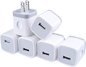 Sponsored Ad - One-Port Charger Plug, GiGreen 1A Charging Blocks 6 PC Ultra Compact Travel Charging Cube Power Adapter Com...