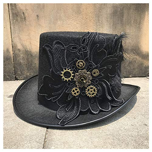 Sombrero Hombres Mujeres de la vendimia hecha a mano de Steampunk del