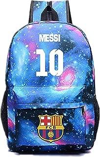 Barcelona Lionel Messi 10 Fans Backpack for Back to School Noctilcent Bag for Kids/Youth/Unisex
