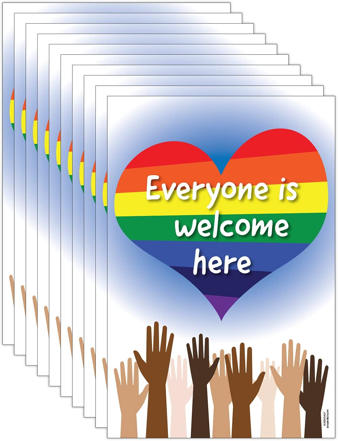 Everyone is Welcome Here Sales results No. 1 Posters Pack Ranking TOP5 fo Diversity 10