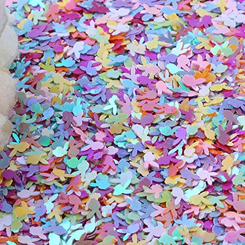Best Quality - Sequins - 10g rabbit head paillettes loose sequins for crafts 6mm glitter confetti nails art sequin diy sewing accessories - by Stephanie - 1 PCs