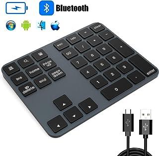 tastierino numerico meccanico USB cablato con tastierino numerico con 21 tasti retroilluminato bianco per computer portatile MQUPIN PC approvato CE FC