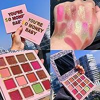 RBRYP 美容施釉35色の真珠光沢マットアイシャドウパレットグリッタースモーキーアイシャドウ美容メイクアップ防水化粧品 使いやすく操作も簡単 (Color : 16 colors)