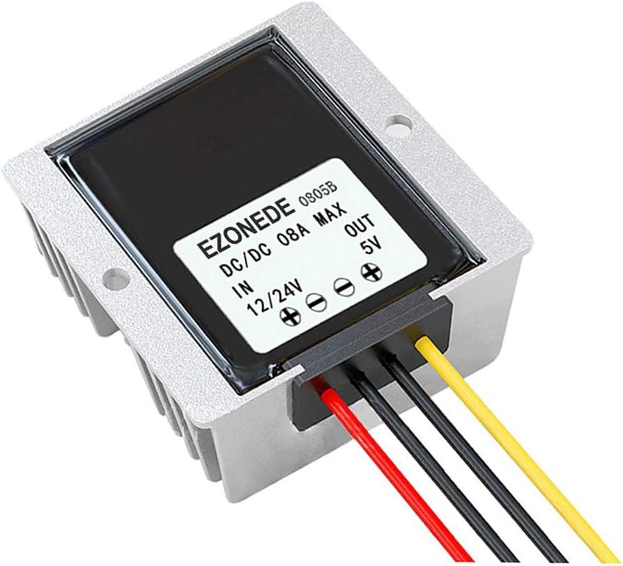 Stayhome 1PCS 12V 24V to 5V 8A 40W DC DC Converter Step Down Voltage Transformer Buck Transformer Car Power Technology for LED Display