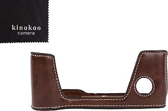 kinokoo Camera Leather Half Case Bottom Case for Fujifilm X-Pro2 Leather Bottom open-able  coffee