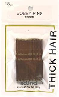 Scunci Strong Hold Bobby Pins Brunette - 18pk Brown