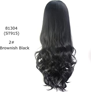 mebake Long Wavy Half Wig 8Colors Available Synthetic Wigs For Women High Temperature Fiber 280g Red Blue Brown Purple Black-in Synthetic None,#2,24inches