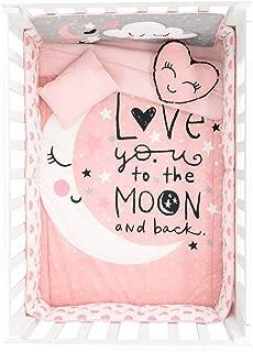 HOT Seller Moon and Stars Crib Bedding Set Nursery for Baby Shower Gift 6 PCS