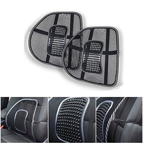 Air Flow, supporto lombare, cuscino per sedile auto o schienale sedia, 2 pezzi