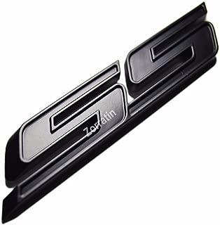 zorratin Tilt SS Grill Side Trunk Emblem Badge Decal with Sticker for Chevy IMPALA COBALT Camaro 2010-2015 [full black]